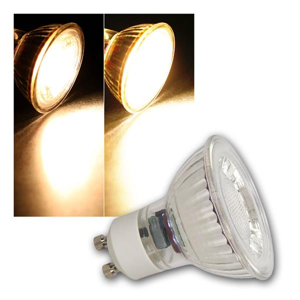 GU10 LED Strahler MCOB dimmbar, 5W 350lm warmweiß 36°
