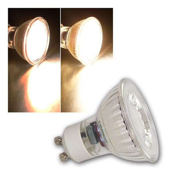 GU10 LED Strahler MCOB dimmbar, 7W 450lm warmweiß 36°
