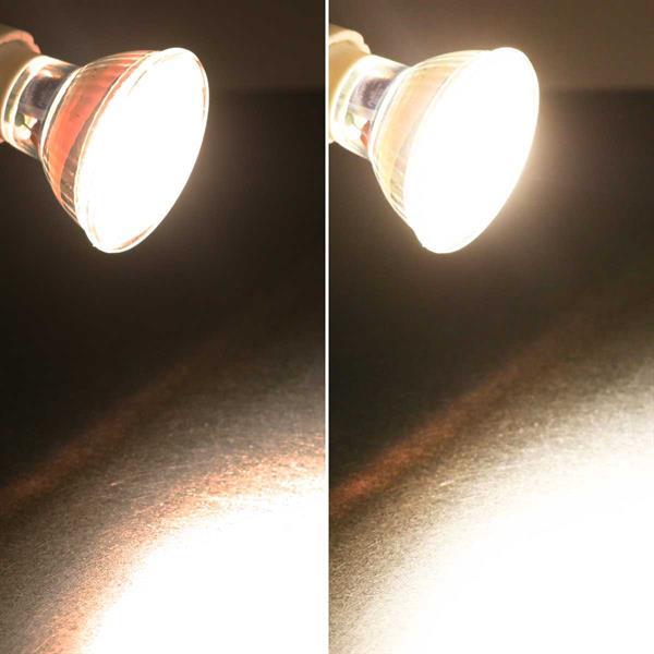 GU10 LED Spot mit 550lm Lichtstrom idealer Ersatz für Halogenlampen