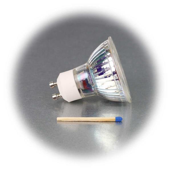 LED Leuchtmittel GU10 hat eine 7W Highpower COB LED in einem Glasgehäuse