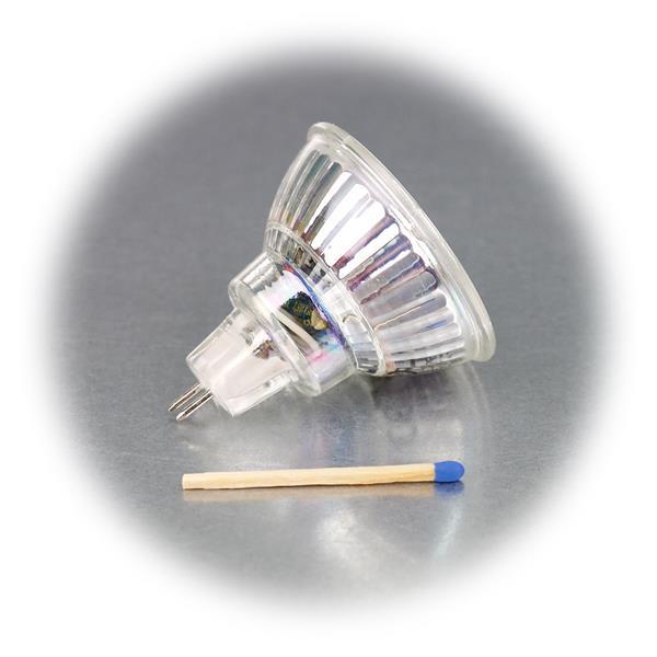 LED Leuchtmittel MR16 hat eine 5W Highpower COB LED in einem Glasgehäuse