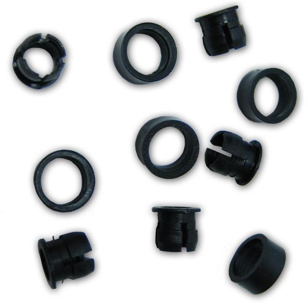 20x Montagering Plastik mit Arretierung - 5mm LEDs