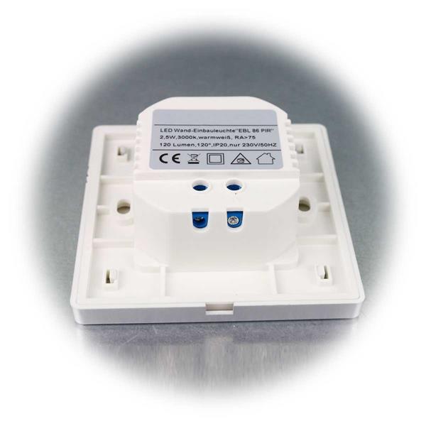 LED Wand-Einbauleuchte zum direkten Anschluss an 230V