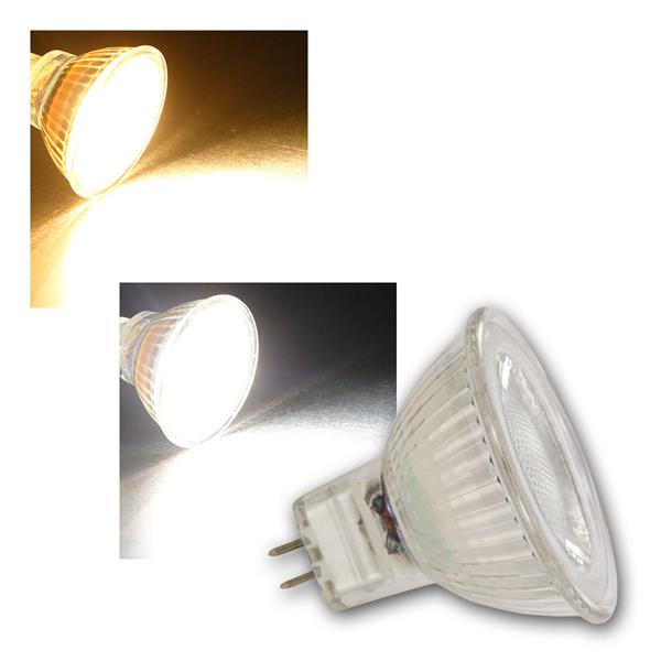 MR16 LED Strahler MCOB, 36° 3/5W warmweiß/neutralweiß, 12V