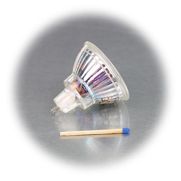 LED Leuchtmittel MR16 mit 3W oder 5W Highpower COB LED in einem Glasgehäuse
