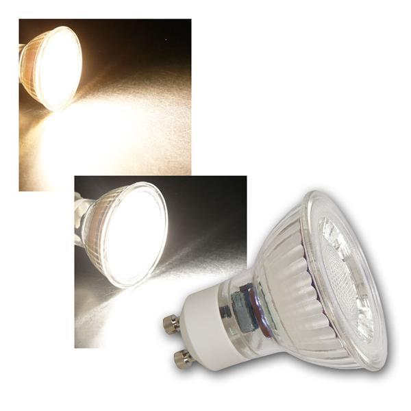 GU10 LED Strahler MCOB, 36° 2/3/5/7W warmweiß/neutralweiß