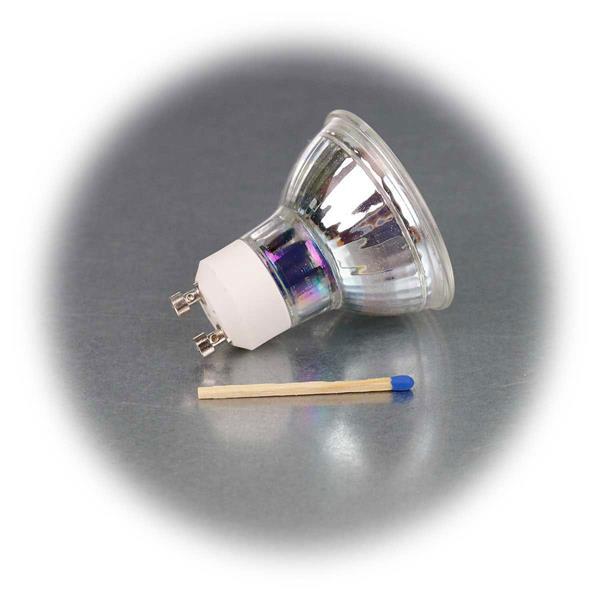 LED Leuchtmittel GU10 mit Highpower COB LED in einem Glasgehäuse