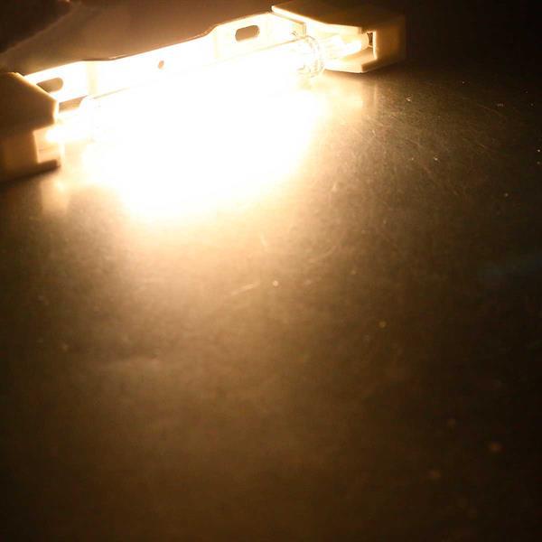 Warmweiß-leuchtender R7s Leuchtstab RS118 COB8 mit 930lm