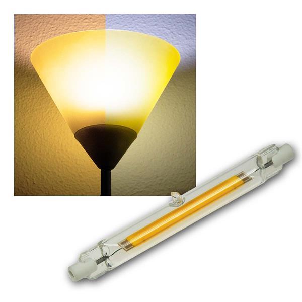 R7s Leuchtstab RS118 COB8 118mm warm/neutral Glas