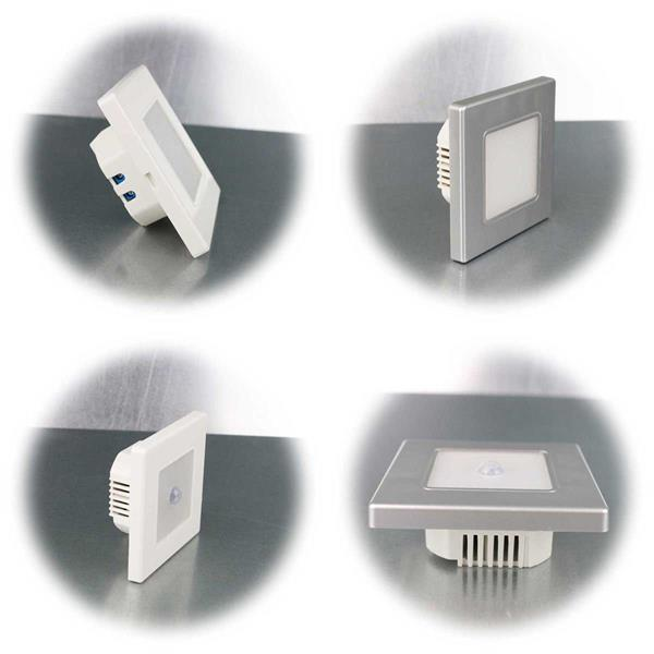 LED Wand-Einbauleuchte in 2 Farben mit oder ohne Bewegungsmelder