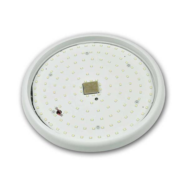 LED Automatikleuchte, Erfassungsbereich, Lichtempfindlichkeit und Leuchtdauer einstellbar IP54 LED Sicherheitsleuchte mit HF-Bewegungsmelder, flaches Design