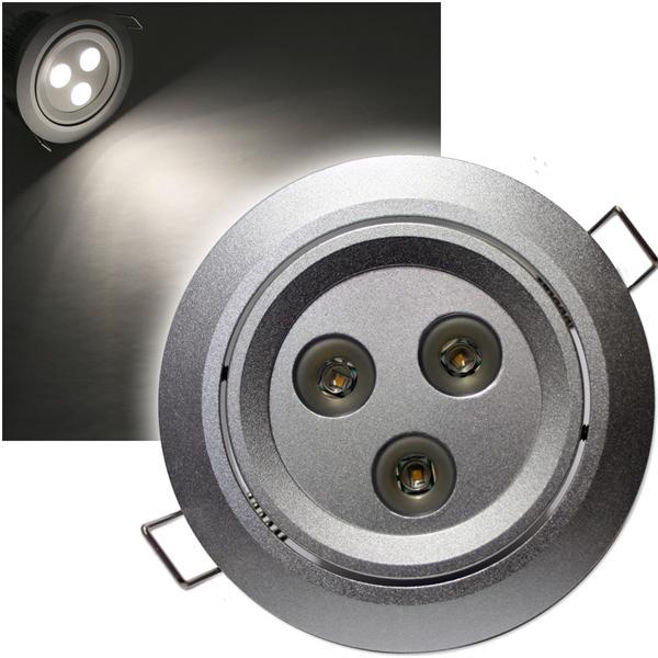 LED-Einbaustrahler 3x 3W CREE LEDs warm weiß 12V DC