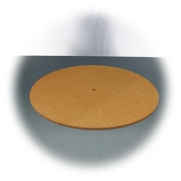 Plattentellerauflage aus Kork reduziert statische Aufladung