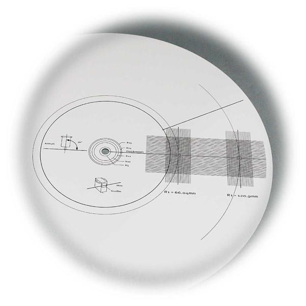 Tonabnehmer-Einstelllehre zur Justierung des Tonarms