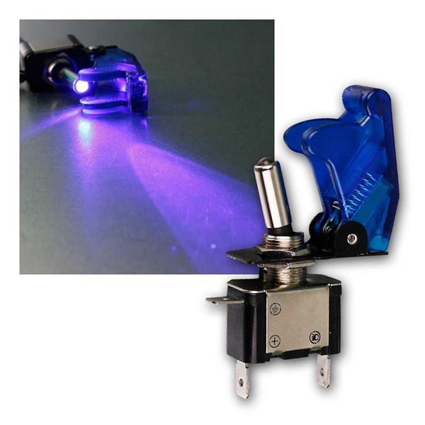 Kill-Switch Schalter blau transpare, LED 12V / 35A