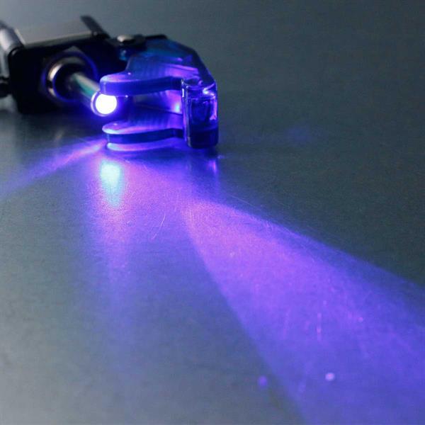 Not-Aus-Schalter mit blau-leuchtender Kontroll-LED