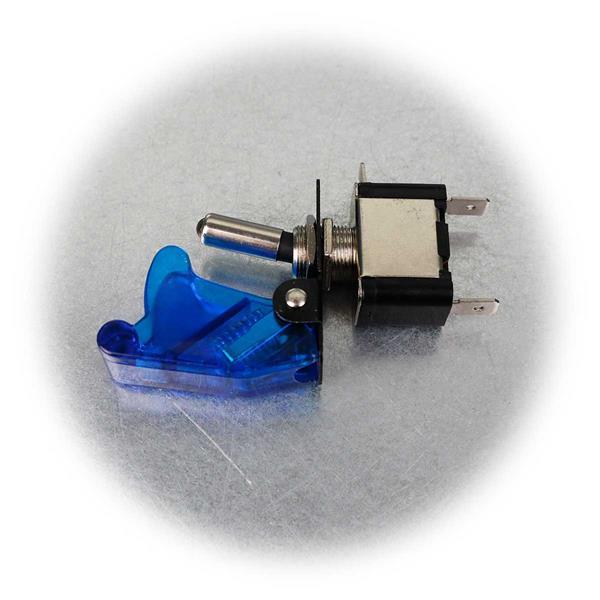 2-poliger Kill-Switch-Schalter mit transparent blauer Schutzkappe