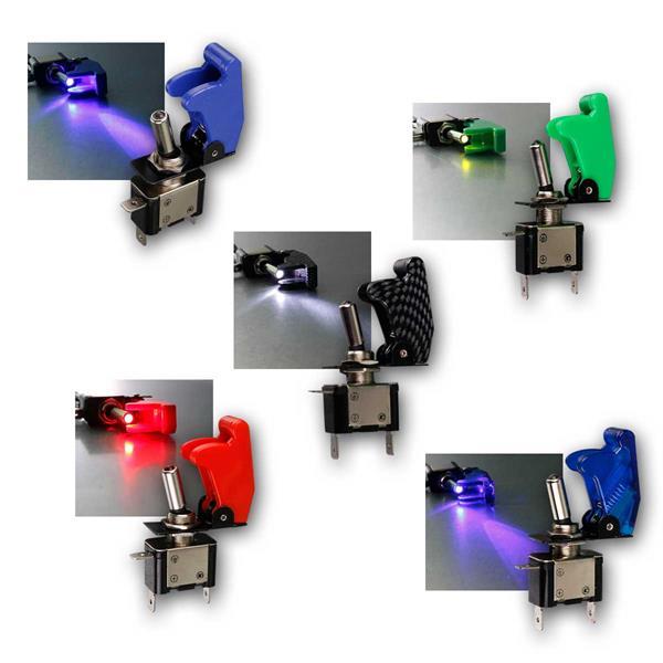 Kill-Switch Schalter mit LED, 12V / 35A, 5 Typen