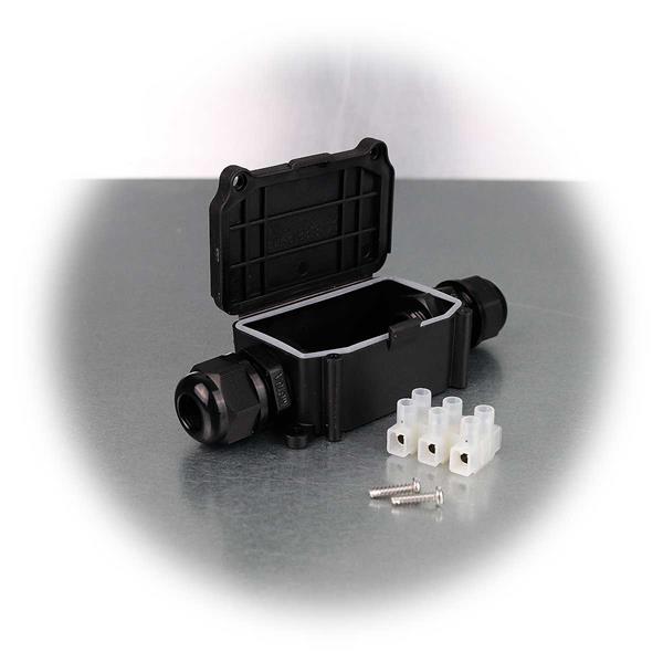 Wasserdichte Kabeldose für 2 Kabel mit1 Ein- und 1 Ausgang