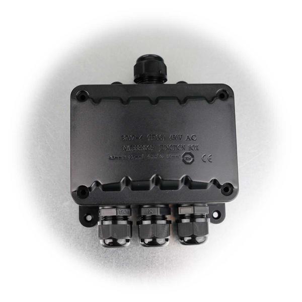 wasserdichte Kabelverbinder-Box für bis 4 Kabel