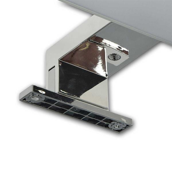 60cm lange LED-Spiegelleuchte mit Haltefuß zur Topmontage