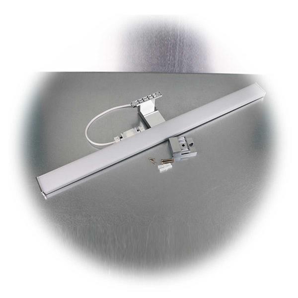 60cm lange LED-Spiegelleuchte mit Adapter und Montagematerial