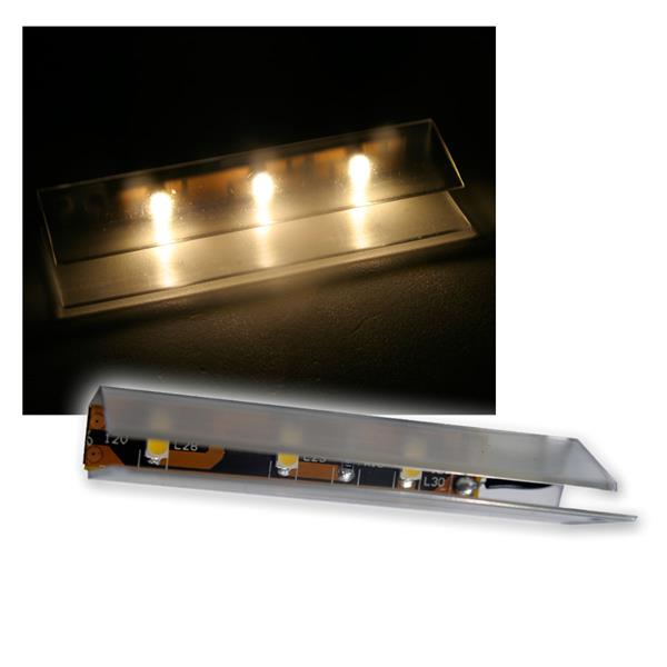6er SET LED Glasbodenbeleuchtung 66mm warm-weiß