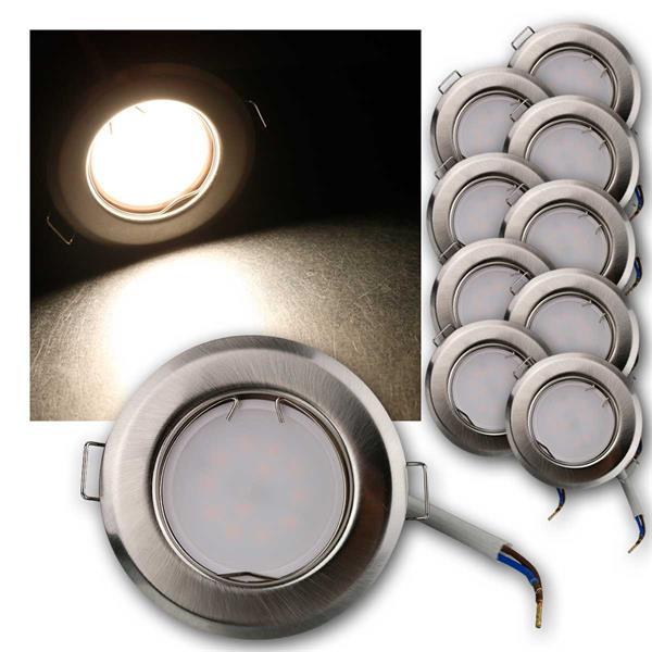 10er Set LED Einbauleuchten RFS3NW 230V 3W neutr