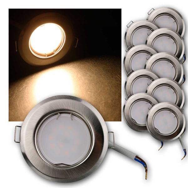 10er Set LED Einbauleuchten RFS5WW 230V 5W warm