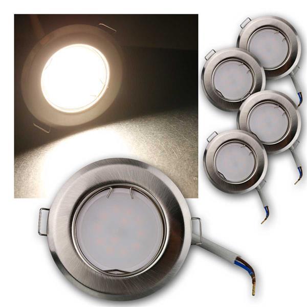 5er Set LED Einbauleuchten RFS5NW 230V 5W neutra