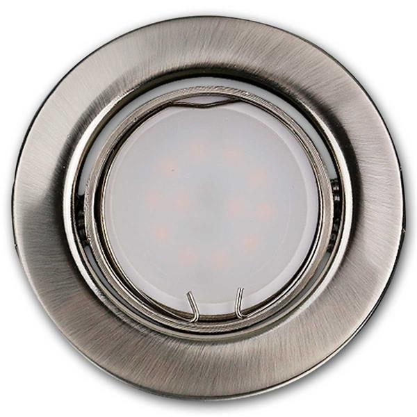 5er Set runde LED Einbauleuchten anschlussfertig für 230V
