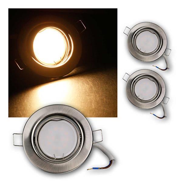 3er Set LED Einbauleuchten RSS5WW 230V 5W warm