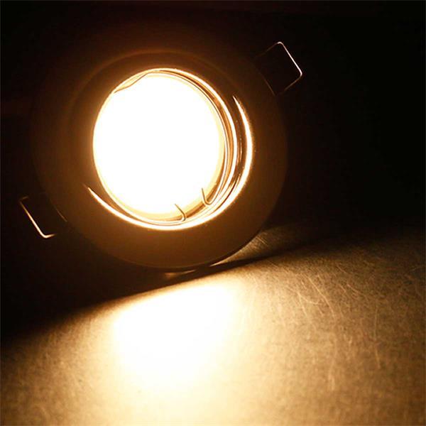 5er Set warmweiß-leuchtende 5W LED Einbauleuchten RSS5WW