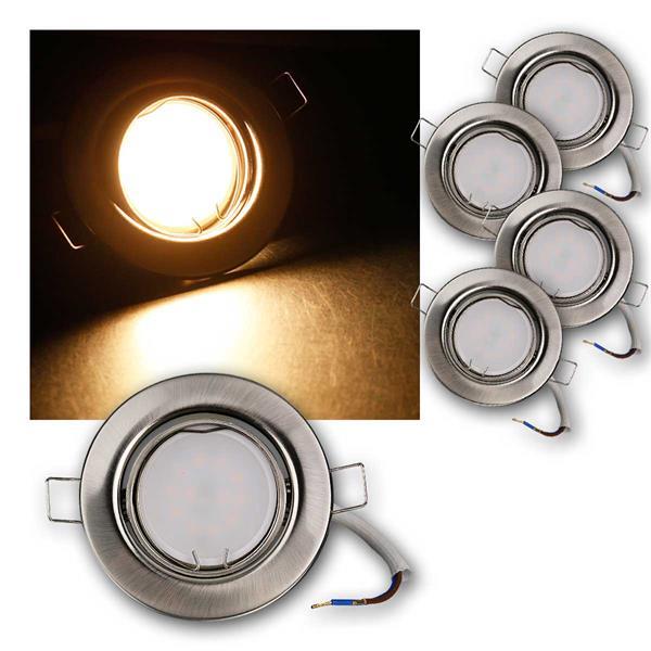 5er Set LED Einbauleuchten RSS5WW 230V 5W warm