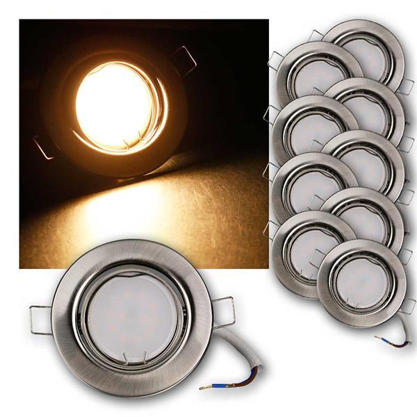 10er Set LED Einbauleuchten RSS5WW 230V 5W warm
