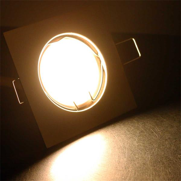 10er Set warmweiß-leuchtende LED Einbauleuchten EFS3WW