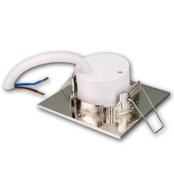 Warmweiß-leuchtende LED Einbauleuchten anschlussfertig für 230V im 3er Set