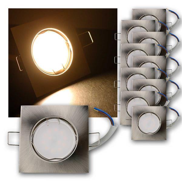 10er Set LED Einbauleuchten EFS3WW 230V 3W warm
