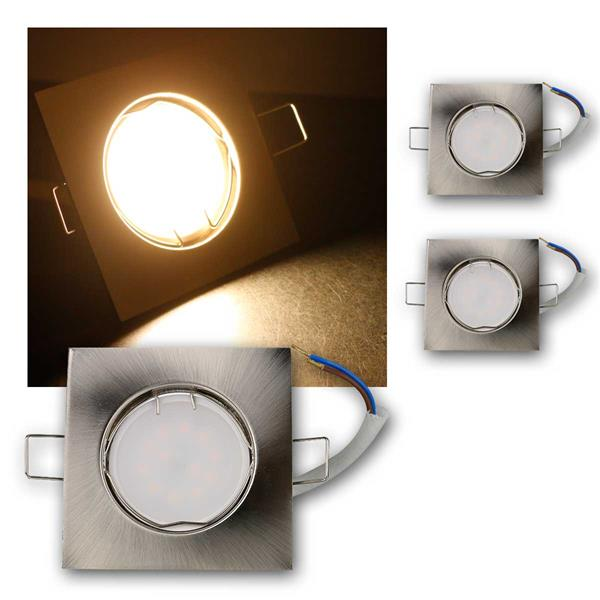 3er Set LED Einbauleuchten EFS5WW 230V 5W warm