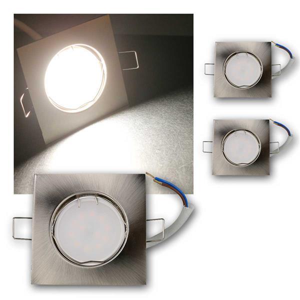 3er Set LED Einbauleuchten EFS5NW 230V 5W neutra