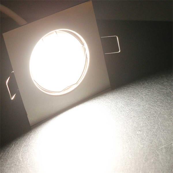 10er Set eckige LED Einbaustrahler mit neutralweißem Licht