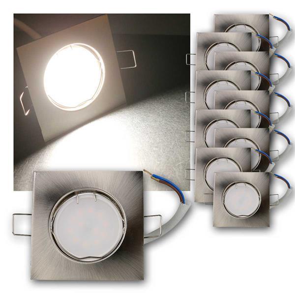 10er Set LED Einbauleuchten EFS5NW 230V 5W neutr