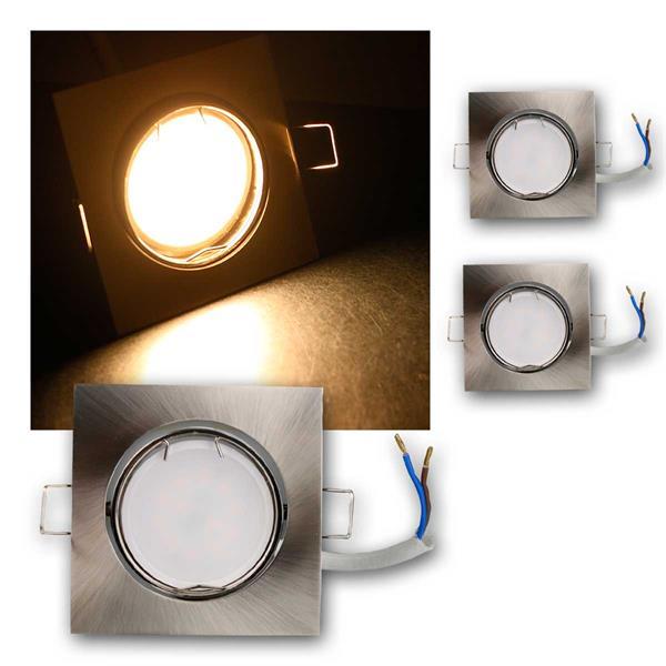 3er Set LED Einbauleuchten ESS3WW 230V 3W warm