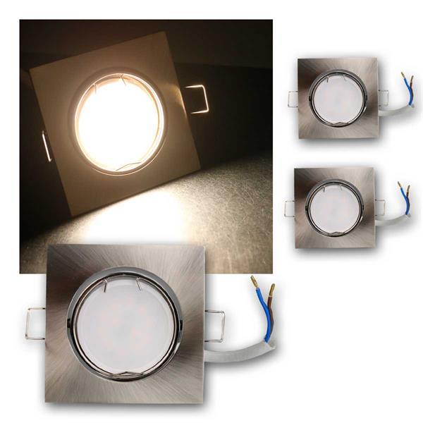 3er Set LED Einbauleuchten ESS5NW 230V 5W neutra