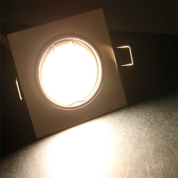 3er Set neutralweiß-leuchtende LED Einbaustrahler ESS5NW