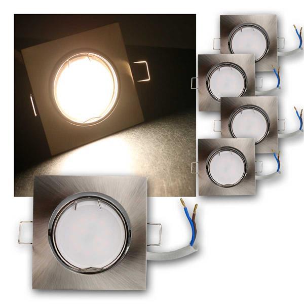 5er Set LED Einbauleuchten ESS5NW 230V 5W neutra
