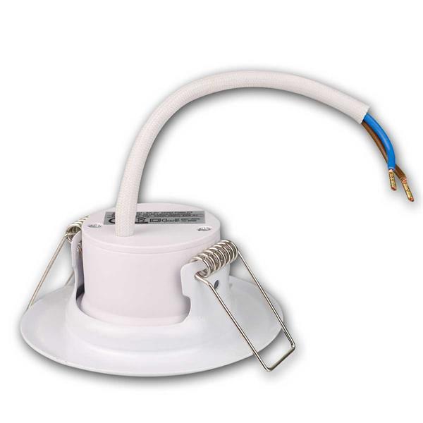 5er Set weiße 5W LED Einbauleuchten zum direkten Anschluss an230V