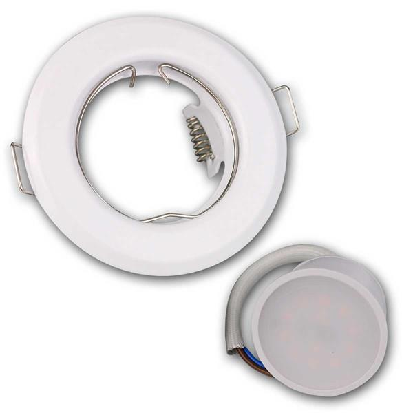 Runde, weiße LED Einbauleuchten im 3er Set mit 3W-Leuchtmittel