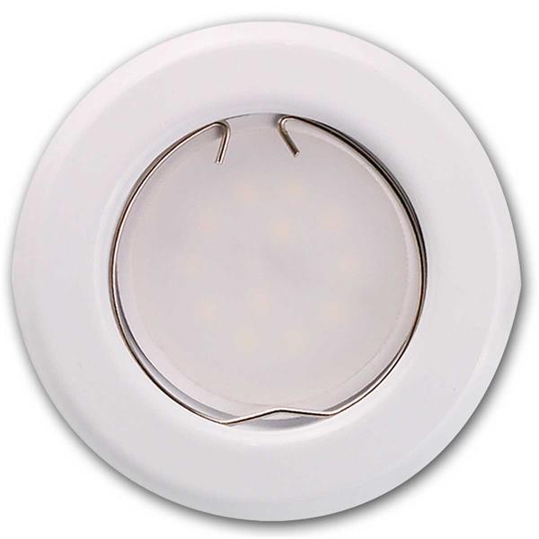 3er Set runde, weiße 3W LED Einbauleuchten zum direkten Anschluss an 230V