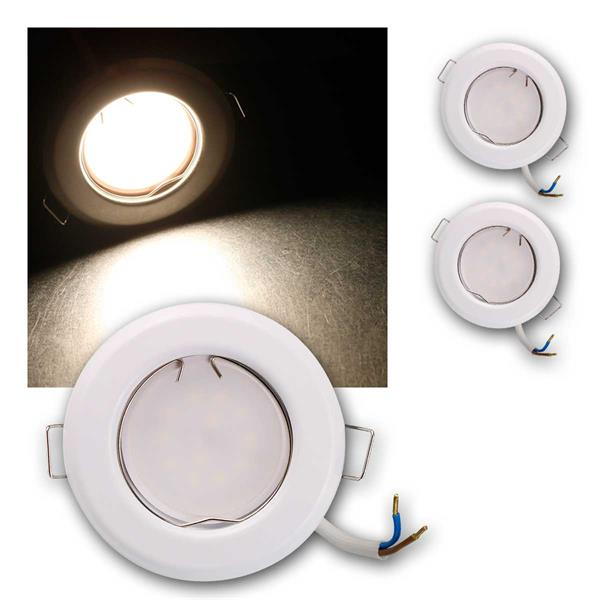 3er Set LED Einbauleuchten RFW3NW 230V 3W neutra